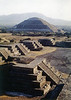 Pyramid of the Sun, ruins of Teotihuacan near Mexico City  Vintage 1980 film photo