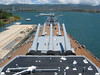 USS Missouri looking towards the Arizona Memorial
