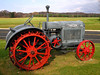 Depression era McCormick Deering tractor ran on kerosene and had a small gas tank for starting gasoline