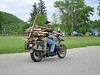Angelo's Lumber Wagon. Let's see $16,000 bike, ten bucks of camo paint equals a $16,010 adventure bike.     2005 BMW GS, $16,000... Two cans camo paint $10... making Adventure Riders Most Popular Photos... Priceless!!! (Great River Road Run May '06)