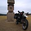 Stonehenge II and Easter Island Heads  FM 1340, Hunt, TX